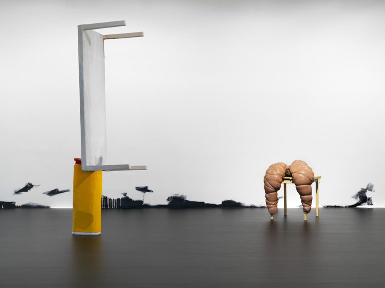 You Can Only Lose; Tisch mit; Untitled (Floor Piece) 2013