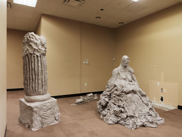 column two; pietà; fireplace 2014