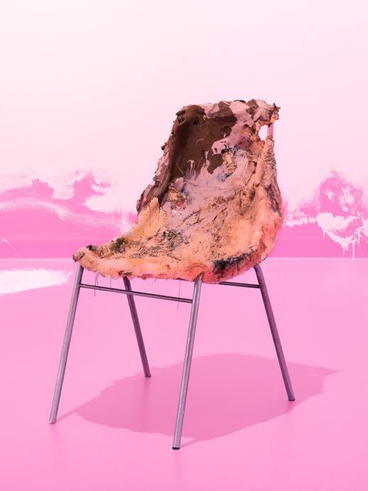 Barfood with Erich Muehsam / Langweile mit Richard Wagner; Chair (Sewn) 2014